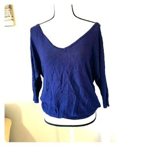 Torrid blue v- neck sweater NWT